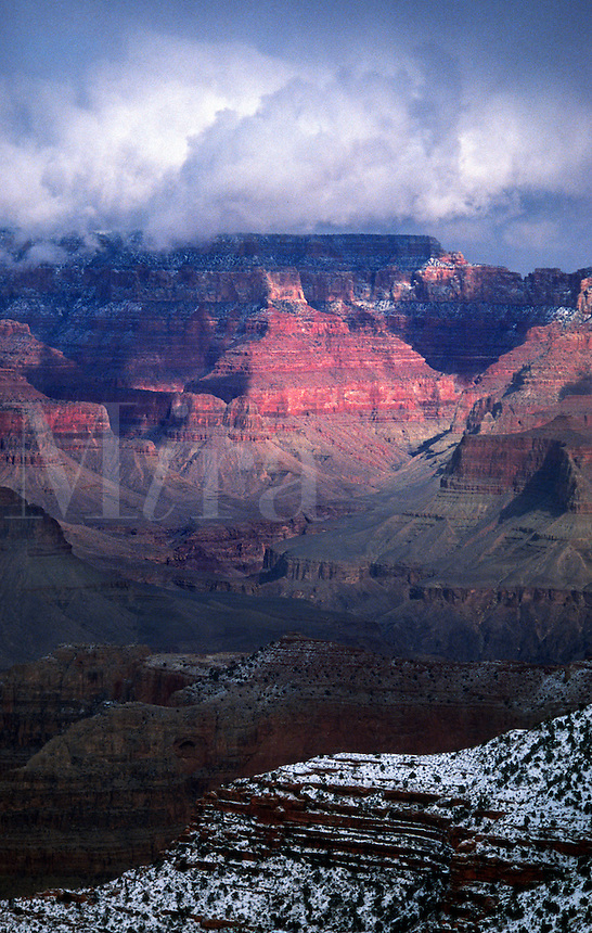 Grand Canyon, Arizona, in winter.