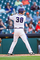 Dylan Fitzgerald #38 of the Texas Christian Horned Frogs at bat against the Sam Houston State Bearkats at Minute Maid Park on February 28, 2014 in Houston, Texas.  The Bearkats defeated the Horned Frogs 9-4.  (Brian Westerholt/Four Seam Images)