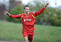 ALBION'S JACK WERNDLY CELEBRATES AFTER HE  SCORES THE FIRST