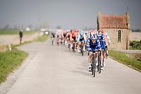 Iljo KEISSE (BEL/Deceuninck-Quick Step) crossing 'De Moeren' (open flatlands)<br /> <br /> 43rd Driedaagse Brugge-De Panne 2019 <br /> One day race (1.UWT) from Brugge to De Panne BEL (200km)<br /> <br /> ©kramon