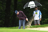 11th July 2021, Silvis, IL, USA; Will Gordon hits out of a bunker on the #6 hole during the final round of the John Deere Classic on July 11, 2021, at TPC Deere Run, Silvis, IL.
