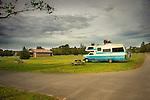 Hammonasset State Beach Park.Camping van in campground .