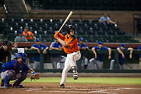AZL Giants third baseman Jacob Gonzalez (52) at bat during Game Three of the Arizona League Championship Series against the AZL Cubs on September 7, 2017 at Scottsdale Stadium in Scottsdale, Arizona. AZL Cubs defeated the AZL Giants 13-3 to win the series two games to one. (Zachary Lucy/Four Seam Images)