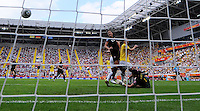 Daiane of team Brazil scores 0:1 with an owngoal during the FIFA Women's World Cup at the FIFA Stadium in Dresden, Germany on July 10th, 2011.