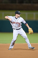 Peoria Javelinas shortstop Nolan Fontana (15), of the Houston Astros organization, during an Arizona Fall League game against the Glendale Desert Dogs on October 14, 2013 at Camelback Ranch Stadium in Glendale, Arizona.  Glendale defeated Peoria 5-1.  (Mike Janes/Four Seam Images)