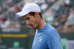 Andy Murray (GBR) is defeated by Alexander Zverev (GER) 4-6, 6-7 (4-7), at the BNP Paribas Open being played at Indian Wells Tennis Garden in Indian Wells, California on October 12,2021: ©Karla Kinne/Tennisclix/CSM