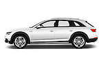 Car Driver side profile view of a 2017 Audi A4-Allroad Design-Luxe 5 Door wagon Side View