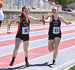 STURGIS, SD: MAY 25:  WORKING -    during the 2018 South Dakota State High School Track Meet at Woodle Field in Sturgis, S.D.  (Photo by Dick Carlson/Inertia)
