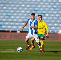 12th September 2020 The John Smiths Stadium, Huddersfield, Yorkshire, England; English Championship Football, Huddersfield Town versus Norwich City;  Jonathan Hogg of Huddersfield Town breaks away  from McLean of Norwich