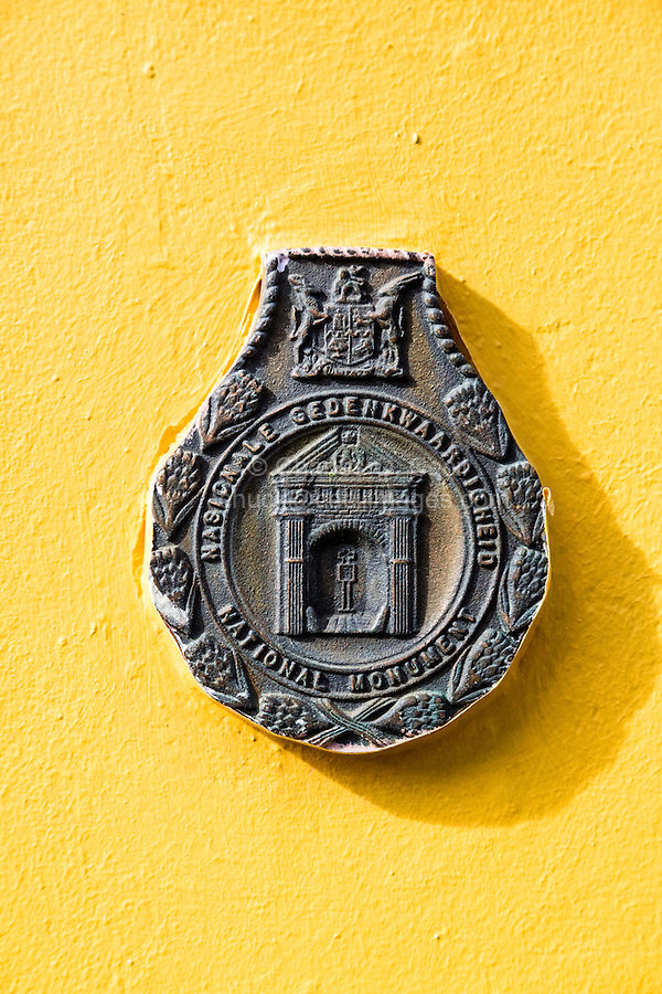 South Africa, Cape Town, Bo-kaap.  National Monument Historical Marker.
