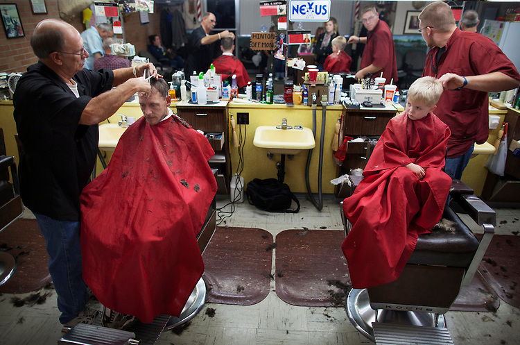 A trip to the barbershop provided a moment of male bonding for Shane and Kayden.