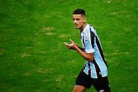 PORTO ALEGRE, RS, 02.06.2021 - GREMIO - BRASILIENSE - O  atacante Ricardinho, da equipe do Gremio, comemora o seu gol, na partida entre Grêmio e Brasiliense, válida pela Copa do Brasil, no estádio Arena do Grêmio, em Porto Alegre, nesta quarta-feira (02).