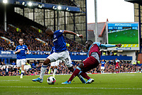 Arthur Masuaku of West Ham United and Djibril Sidibe of Everton during the Premier League match between Everton and West Ham United at Goodison Park on October 19th 2019 in Liverpool, England. (Photo by Daniel Chesterton/phcimages.com)<br /> Foto PHC/Insidefoto <br /> ITALY ONLY