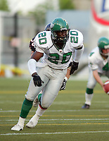 Kennedy Nkeyasen Saskatchewan Roughriders 2003. Photo F. Scott Grant
