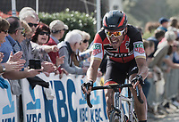 Greg Van Avermaet (BEL/BMC) fighting up the Taaienberg<br /> <br /> 101th Ronde Van Vlaanderen 2017 (1.UWT)<br /> 1day race: Antwerp › Oudenaarde - BEL (260km)