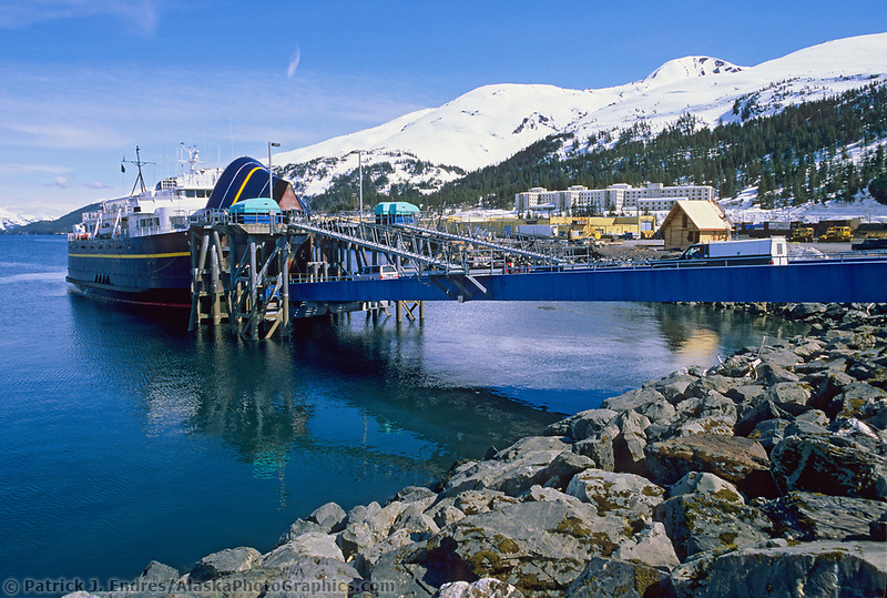 Alaska Marine Transportation Ferry dock, Whittier, Alaska
