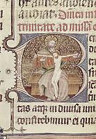 Missal of Sant Cugat del Vallès. s.XV. The Holy Trinity. Catalan school. Gothic art. Miniature Painting. SPAIN. Barcelona. Roy
