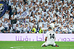 Real Madrid Carlos Henrique Casemiro during La Liga match between Real Madrid and Atletico de Madrid at Santiago Bernabeu Stadium in Madrid, Spain. September 29, 2018. (ALTERPHOTOS/Borja B.Hojas)