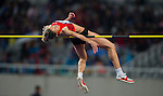SHANGHAI, CHINA - MAY 19:  Marina Aitova of Kazakhstan competes in the Women High Jump during the Samsung Diamond League on May 19, 2012 at the Shanghai Stadium in Shanghai, China.  Photo by Victor Fraile / The Power of Sport Images