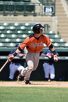 Baltimore Orioles first baseman Riley Palmer (25) during an Instructional League game against the Tampa Bay Rays on September 15, 2014 at Ed Smith Stadium in Sarasota, Florida.  (Mike Janes/Four Seam Images)