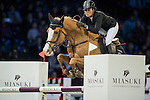Pilar Lucrecia Cordon of Spain riding Gribouille du Lys during the Hong Kong Jockey Club Trophy competition, part of the Longines Masters of Hong Kong on 10 February 2017 at the Asia World Expo in Hong Kong, China. Photo by Juan Serrano / Power Sport Images