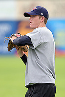 July 4th 2008:  Shane Dyer of the Hudson Valley Renegades, Class-A affiliate of the Tampa Bay Rays, during a game at Dwyer Stadium in Batavia, NY.  Photo by:  Mike Janes/Four Seam Images