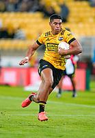 30th April 2021; Wellington, New Zealand;  Hurricanes Salesi Rayasi open field run to the try line.  Hurricanes versus  Highlanders, Super Rugby, Sky Stadium, Wellington New Zealand, Friday 30 April 2021.