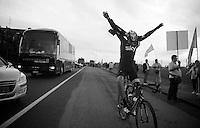 2013 Giro d'Italia.stage 13: Busseto - Cherasco..Danny Pate (USA) flying to the start