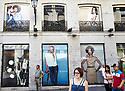 Shoppers  in Puerto del Sol in Madrid in Spain