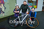 Mountain Biking Kerry are launching their #Buildthebikepark campaign and a petition on a project to build a bike park in Tralee asking everyone to sign the petition the link is on our website mtbky.ie Front l to r: Iseult Brick Dunne, Aunlan Dunne and Arthur Brick Dunne.