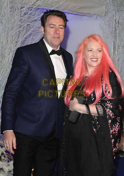 LONDON, ENGLAND - NOVEMBER 26: Jonathan Ross & Jane Goldman at the Winter Whites Gala at Kensington Palace on November 26, 2013 in London, England<br /> CAP/ROS<br /> ©Steve Ross/Capital Pictures