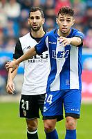 Deportivo Alaves' Munir El Haddadi (r) and Valencia CF's Martin Montoya during La Liga match. October 28,2017. (ALTERPHOTOS/Acero) /NortePhoto.com