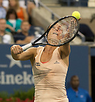 Flavia Pannetta (ITA) loses to Serena Williams (USA) 6-3, 6-2  at the US Open being played at USTA Billie Jean King National Tennis Center in Flushing, NY on September 3, 2014