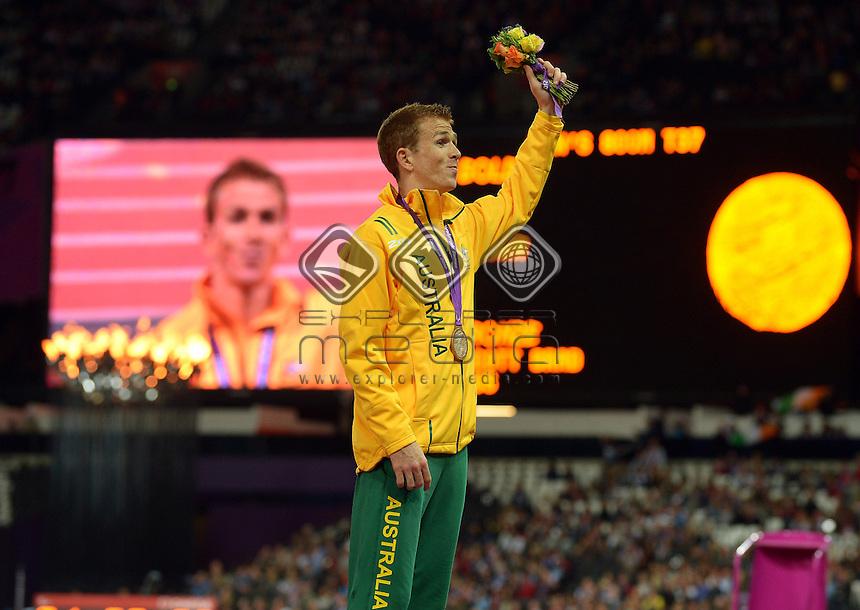 Brad Scott (Bronze) Podium <br /> Athletics: Men's 800m T-37<br /> Olympic Stadium (Saturday 1  Sept)<br /> Paralympics - Summer / London 2012<br /> London England 29 Aug - 9 Sept <br /> © Sport the library / Jeff Crow