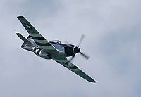 FORT LAUDERDALE, FLORIDA - MAY 05:  P-51 Mustang performs at The Fort Lauderdale Air Show on May 5, 2018 in Fort Lauderdale, Florida. <br /> <br /> <br /> People:  P-51 Mustang