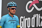 Jakob Fuglsang (DEN) Astana Pro Team at sign on before the start of Stage 9 of the 103rd edition of the Giro d'Italia 2020 running 208km from San Salvo to Roccaraso (Aremogna), Sicily, Italy. 11th October 2020.  <br /> Picture: LaPresse/Massimo Paolone   Cyclefile<br /> <br /> All photos usage must carry mandatory copyright credit (© Cyclefile   LaPresse/Massimo Paolone)