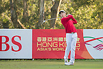 Yannick Nathan Artigolle of Hong Kong tees off hole 2 during the 58th UBS Hong Kong Open as part of the European Tour on 08 December 2016, at the Hong Kong Golf Club, Fanling, Hong Kong, China. Photo by Vivek Prakash / Power Sport Images