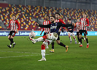 9th January 2021; Brentford Community Stadium, London, England; English FA Cup Football, Brentford FC versus Middlesbrough; Marcus Browne of Middlesbrough gets a shot on goal