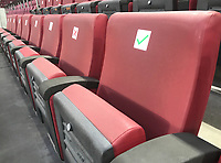 Markierte Sitzplaetze wegen Corona/Covid19 am RheinEnergie Stadion<br /> - 07.10.2020: Deutschland vs. Tuerkei, Freundschaftsspiel, RheinEnergie Stadion Koeln<br /> DISCLAIMER: DFB regulations prohibit any use of photographs as image sequences and/or quasi-video.