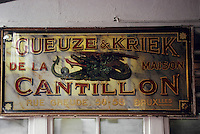 Europe/Belgique/Région de Bruxelles-Capitale/Bruxelles : Brasserie Gueuze Cantillon - Enseigne