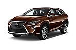 2016 Lexus RX Privilege Line 5 Door Suv Angular Front stock photos of front three quarter view