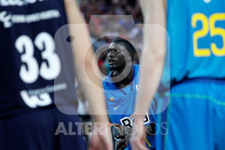 FC Barcelona Regal's Boniface Ndong during Supercopa ACB Final match.October 1,2011. (ALTERPHOTOS/Acero)