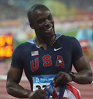 Aug 21, 2008, Beijing, China, LaShawn Merritt of the USA wins the gold medal in the Men's 400m Final of the Beijing 2008 Olympic Games in the National Stadium.<br /> Pechino Olimpiadi 2008<br /> Photo CSPA/INSIDEFOTO