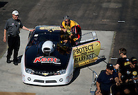 Feb 22, 2014; Chandler, AZ, USA; NHRA pro stock driver Rodger Brogdon during qualifying for the Carquest Auto Parts Nationals at Wild Horse Pass Motorsports Park. Mandatory Credit: Mark J. Rebilas-USA TODAY Sports