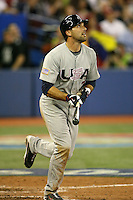 March 8, 2009:  Left fielder - third baseman Mark DeRosa (7) of Team USA during the first round of the World Baseball Classic at the Rogers Centre in Toronto, Ontario, Canada.  Team USA defeated Venezuela  15-6 to secure a spot in the second round of the tournament.  Photo by:  Mike Janes/Four Seam Images