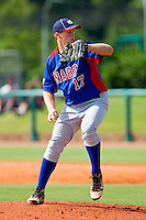 Ty Hensley #17 of NABF in action against American Legion at the 2011 Tournament of Stars at the USA Baseball National Training Center on June 26, 2011 in Cary, North Carolina.  NABF defeated American Legion 5-0. (Brian Westerholt/Four Seam Images)