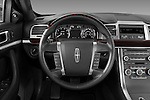 Steering wheel view of a 2010 Lincoln MKS FWD