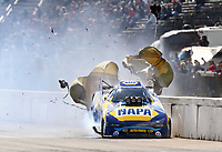 Oct 4, 2020; Madison, Illinois, USA; NHRA funny car driver Ron Capps during the Midwest Nationals at World Wide Technology Raceway. Mandatory Credit: Mark J. Rebilas-USA TODAY Sports
