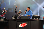 HOT SPRINGS, AR - AUGUST 12: FLW pro Wes Logan weighing in his fish from day three of the FLW Forrest Wood Cup on Lake Ouachita in Hot Springs, Arkansas. (Photo by Justin Manning/Eclipse Sportswire/Getty Images)