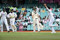 8th January 2021; Sydney Cricket Ground, Sydney, New South Wales, Australia; International Test Cricket, Third Test Day Two, Australia versus India; Marnus Labuschagne of Australia is dismissed caught by Ajinkya Rahane  bowled by Ravindra Jadeja of India